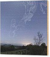 Night Sky Wood Print by Laurent Laveder