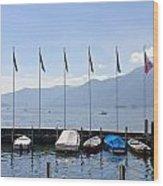 Ascona - Ticino Wood Print by Joana Kruse