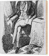 Charles Dickens, English Author Wood Print by Photo Researchers