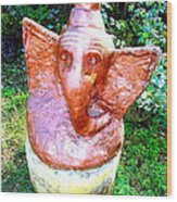Lord Ganesha Wood Print by Anand Swaroop Manchiraju