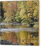 Williams River Autumn Wood Print by Thomas R Fletcher