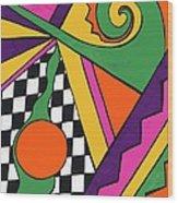 80's Glam Wood Print by Mandy Shupp