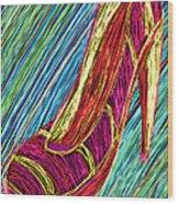 80's High Heels Wood Print by Kenal Louis