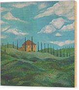 A Day In Tuscany Wood Print by John Keaton