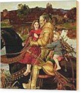 A Dream Of The Past Wood Print by Sir John Everett Millais