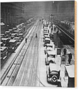 A Heavy Snowfall, 42nd Street, Looking Wood Print by Everett