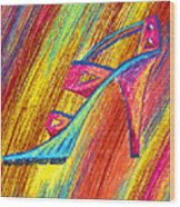 A High Heel Wood Print by Kenal Louis