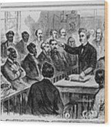 A Jury Of Whites And Blacks Wood Print by Photo Researchers