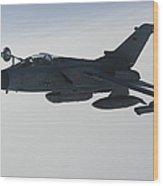 A Luftwaffe Tornado Ids Refueling Wood Print by Gert Kromhout