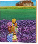 A Moment - Crop Of Original - To See Complete Artwork Click View All Wood Print by Anne Klar