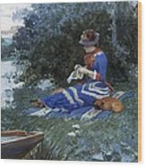 A Quiet Afternoon Wood Print by William Henry Lippincott