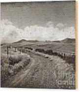 A Rural Path In Auvergne. France Wood Print by Bernard Jaubert