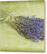 A Spray Of Lavender Wood Print by Judi Bagwell