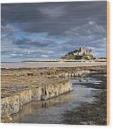 A View Of Bamburgh Castle Bamburgh Wood Print by John Short