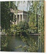 A View Of The Parthenon 6 Wood Print by Douglas Barnett