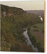A View Of The Vezere River Valley Wood Print by Kenneth Garrett