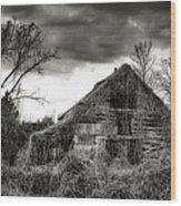 Abandoned Barn Wood Print by Brenda Bryant