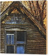 Abandoned Old House Wood Print by Jill Battaglia