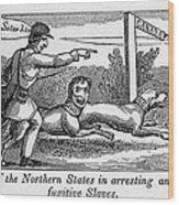 Abolitionist Political Cartoon Wood Print by Everett