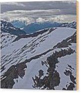 Above The Ridge Wood Print by Mike Reid