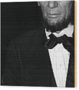 Abraham Lincoln Wood Print by Sophie Vigneault