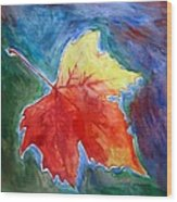 Abstract Autumn Wood Print by Shakhenabat Kasana