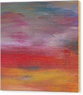 Abstract - Guash And Acrylic - Pleasant Dreams Wood Print by Mike Savad