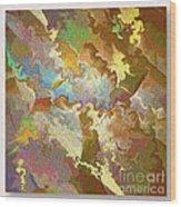 Abstract Puzzle Wood Print by Deborah Benoit