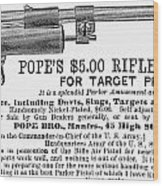Advertisement: Air Pistol Wood Print by Granger