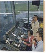 Air Traffic Controllers Direct Traffic Wood Print by David Boyer
