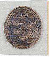Ajna Third Eye Chakra Plate Wood Print by Jaimie Gunn