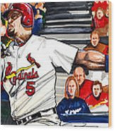 Albert Pujols Wood Print by Dave Olsen