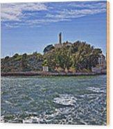Alcatraz Island San Francisco Wood Print by Garry Gay