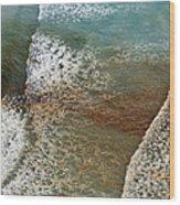 Algal Bloom Wood Print by Peter Chadwick