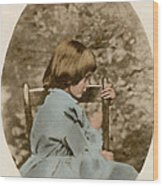 Alice Liddell, Alices Adventures Wood Print by Science Source