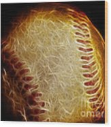 All American Pastime - The Fastball Wood Print by Wingsdomain Art and Photography