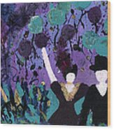 Althea Dances With Ned Wood Print by Annette McElhiney