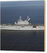 Amphibious Assault Ship Uss Peleliu Wood Print by Stocktrek Images