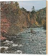 An Autumn Scene Along Little River Wood Print by J. Baylor Roberts