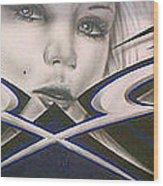 Angel Eyes Wood Print by Mike Royal