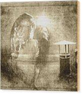 Angel Spirit Sepia Wood Print by Yvon van der Wijk