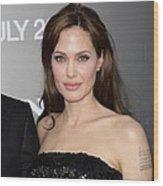 Angelina Jolie At Arrivals For Salt Wood Print by Everett