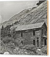 Animas Forks In Blackandwhite Wood Print by Melany Sarafis