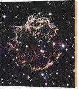 Animation Of A Supernova Explosion Wood Print by Harvey Richer