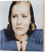 Anna Christie, Greta Garbo, Portrait Wood Print by Everett