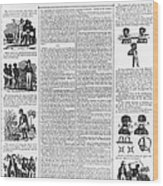 Anti-slavery Broadside Wood Print by Granger