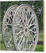 Antique Paddle Wheel University Of Alabama Birmingham Wood Print by Kathy Clark