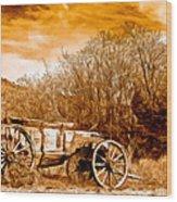 Antique Wagon Wood Print by Bob and Nadine Johnston