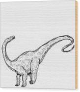 Apatosaurus - Dinosaur Wood Print by Karl Addison
