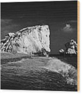 Aphrodites Rock Petra Tou Romiou Republic Of Cyprus Europe Wood Print by Joe Fox